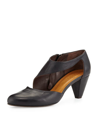 Sarah Leather Pump, Black