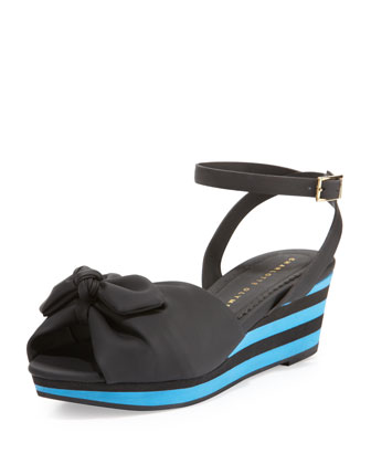 Alexa Rubber Wedge Sandal, Black