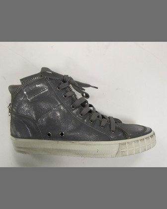 Shake Metallic High-Top Sneaker, Black/Silver