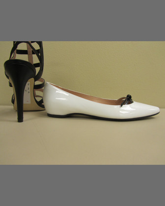 Cleavage Pointy-Toe Flat, Black