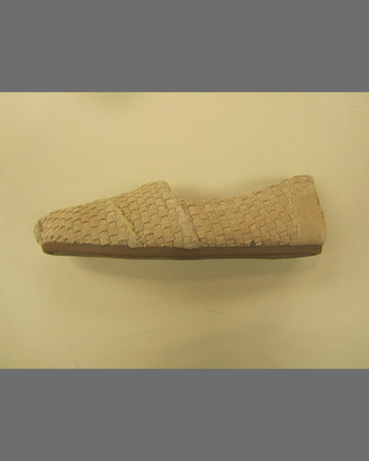 Suede Woven Alpargata Slip-On, Tan