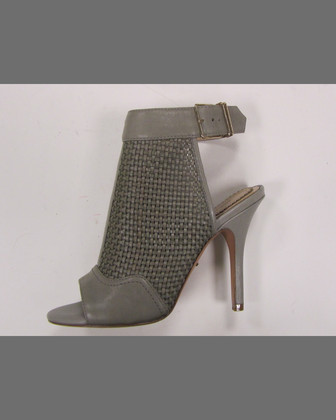 York Woven Leather Bootie, Light Gray