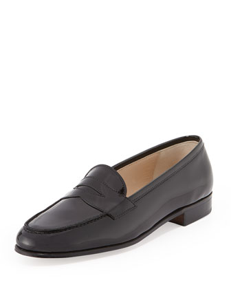 Patent Leather Penny Loafer, Black