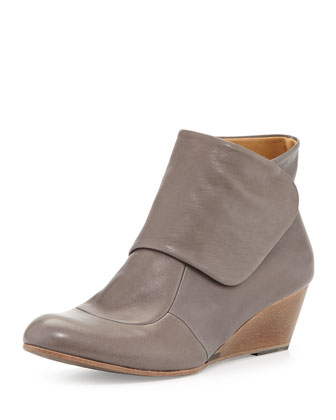 Kiera Leather Wedge Ankle Boot