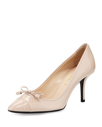 Cap-Toe Patent Bow Pump