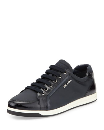 Low-Top Nylon Sneaker, Blue