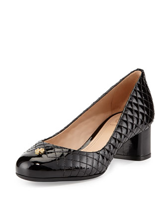 Kent Quilted Patent Pump