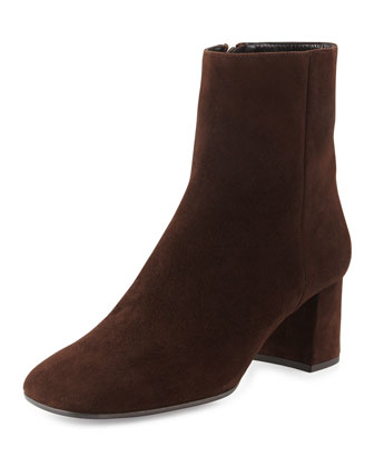 Suede Ankle Boot, Moro