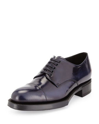 Spazzolato Cap-Toe Lace-Up Shoe