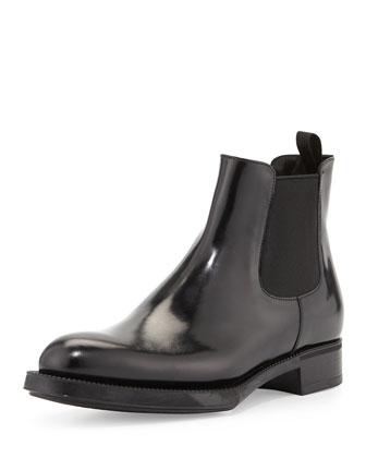 Spazzolato Chelsea Boot, Black (Nero)