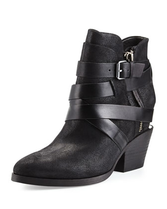 Manhattan Strappy Leather Bootie
