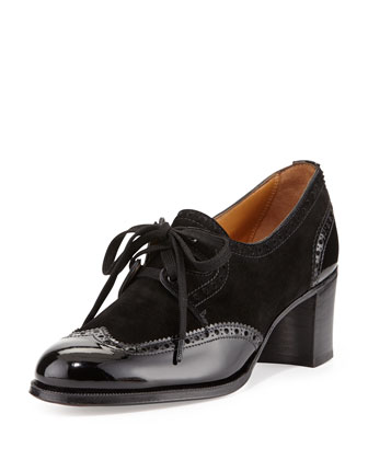 Lace-Up Wingtip Pump