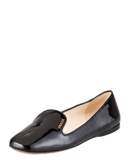 Prada Patent Leather Smoking Slipper