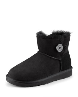 UGG Australia Mini Bailey Buttoned Boot, Black