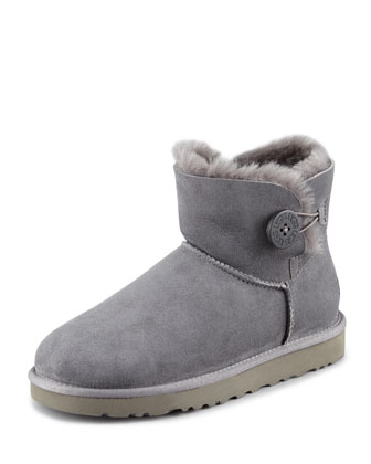 Mini Bailey Buttoned Boot, Gray