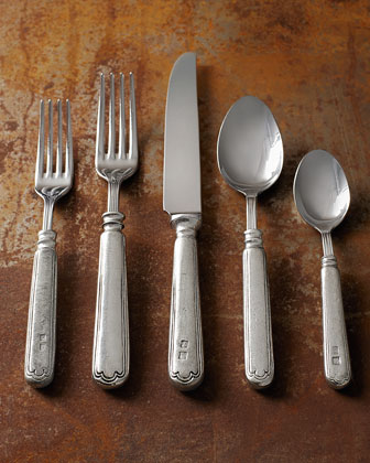 20-Piece Filet Pewter Flatware Service