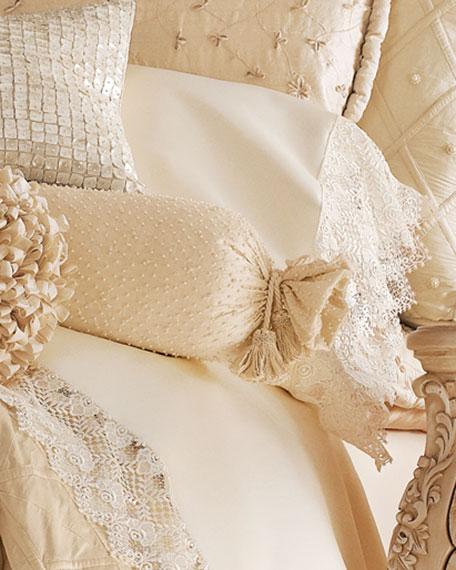 Lattice-Textured King Duvet Cover