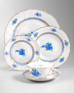 Herend Chinese Bouquet Dinnerware, Blue