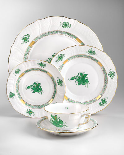 Herend Chinese Bouquet Dinnerware, Green