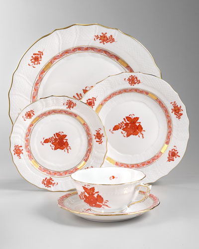 Herend Chinese Bouquet Dinnerware, Rust