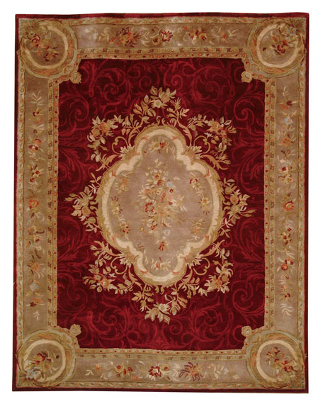 Tufted Aubusson Rug, 8' Round