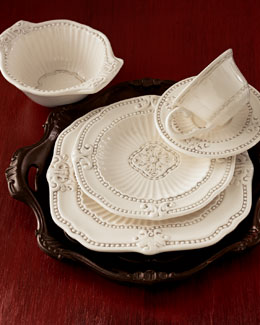 "20-Piece ""Ivory Baroque"" Dinnerware Service"