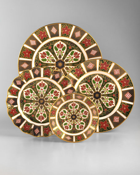 Holiday Imari Fluted Dinner Plate