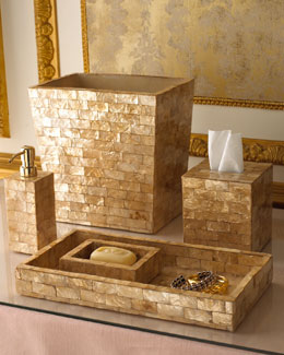 Capiz Bathroom Accessories