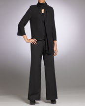 St. John Collection Scarf-Collar Jacket & Marie Pants
