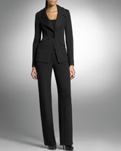 St. John Collection The Blazer & Stove-Cut Pants