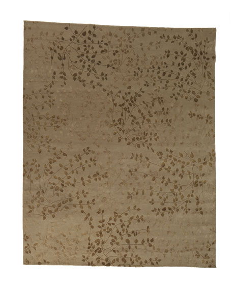 Tibetan Leaves Rug, 10' x 14'