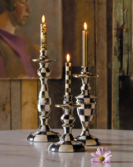MacKenzie-Childs Courtly Check Candlesticks