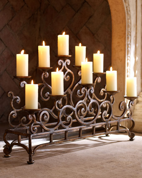 SMALL FIREPLACE CANDELABRA