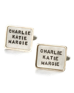 Heather Moore Personalized Square Cuff Links