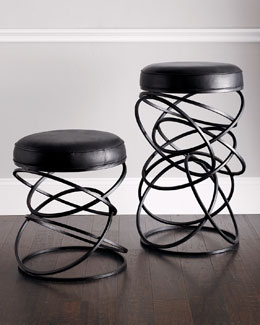 "Global Views ""Dancing Circles"" Stools"