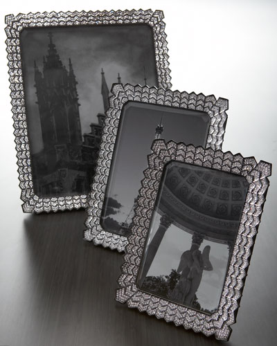 L'Objet Crystal-Embellished Photo Frames