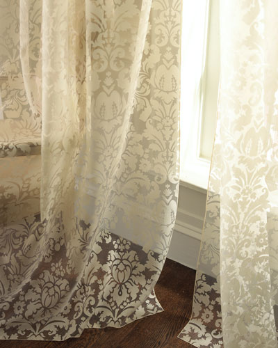 "Dian Austin Couture Home ""Olivia"" Damask-Print Curtains"