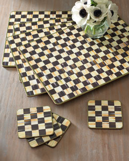 "MacKenzie-Childs ""Courtly Check"" Placemats & Coasters"