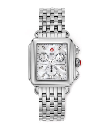 Deco Diamond Dial Watch Head