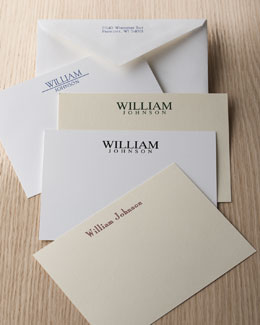 Masculine Correspondence Cards