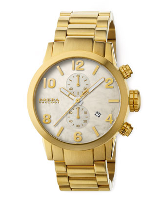Isabella Gold Chronograph on Bracelet