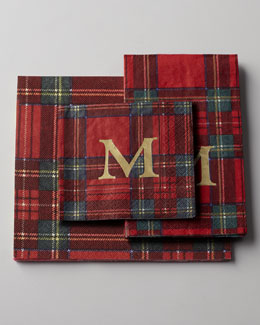 Royal Plaid Personalized Napkins and Guest Towels