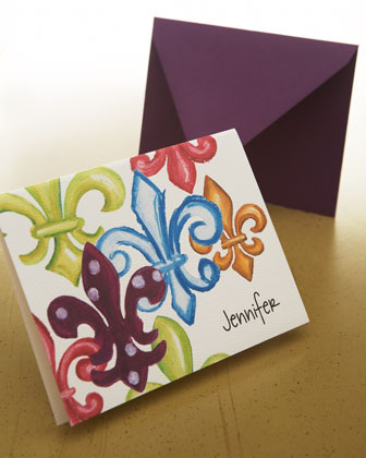 Fleur-De-Lis Fold Notes with Envelopes