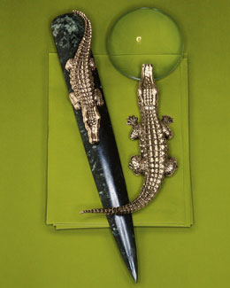 L'Objet Crocodile Desk Accessories