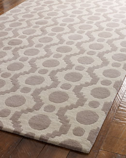 "Dash & Albert Rug Company ""Fleeting Circles"" Rug"