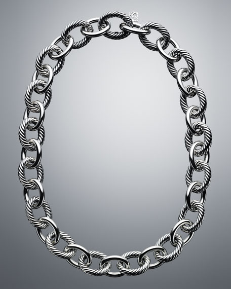 David Yurman Oval Extra-Large Link Necklace