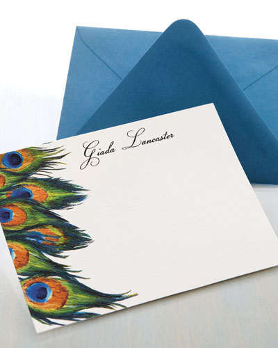 Personalized Peacock Cards