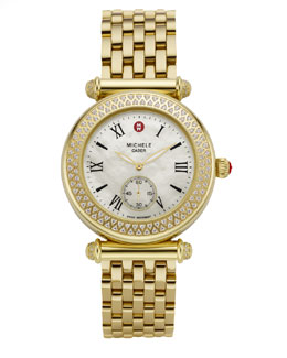 Michele Caber Diamond-Bezel Watch