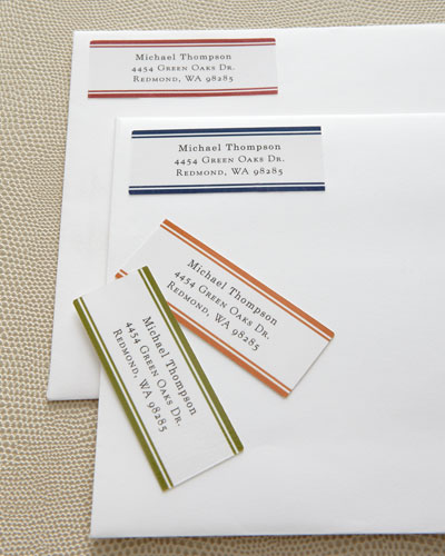 Bordered Address Labels