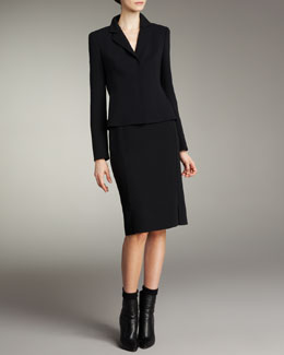 Akris Short Evening Jacket & Double-Face Pencil Skirt